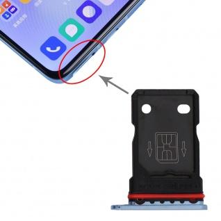 Für OnePlus 9R Dual Sim Karten Halter Adapter Blau Ersatzteil Reparatur