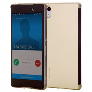 ROCK Shadow Smartcover Gold für Sony Xperia Z3 Plus E6553 Dual Tasche Hülle Case