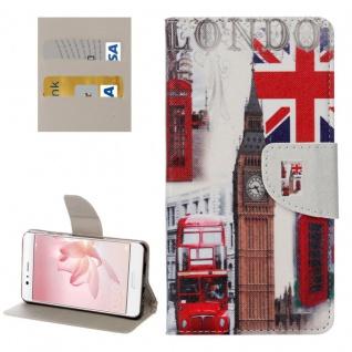 Schutzhülle Muster 27 für Huawei P10 Bookcover Tasche Case Hülle Wallet Etui Neu