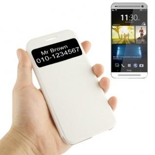 Smartcover Window Weiss für HTC One 2 M8 Tasche Cover Case Hülle Etui Zubehör