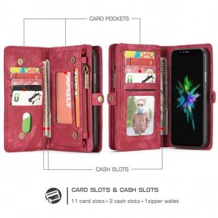 Schutzhülle Handy Tasche f. Apple iPhone X / XS Geldbeutel Schutz Hülle Etui Rot - Vorschau 2