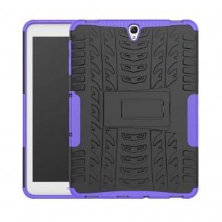 Hybrid Outdoor Schutzhülle Lila für Samsung Galaxy Tab S3 9.7 T820 T825 Tasche