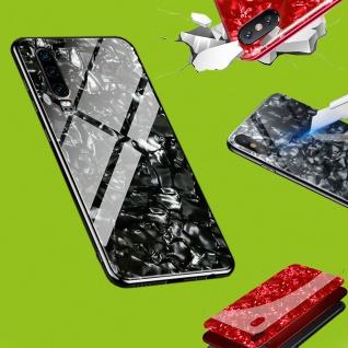 Für Apple iPhone X / 10 / XS Color Effekt Glas Cover Schwarz Tasche Etuis LUXUS
