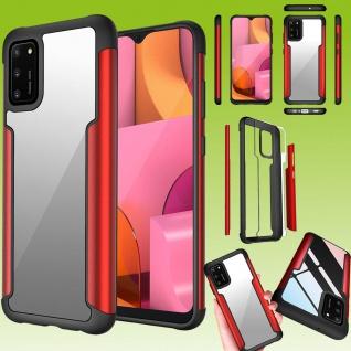 Für Samsung Galaxy A02S A025F Hybrid Case Iron Man Rot Handy Tasche Etuis Hülle
