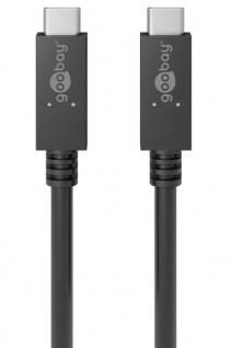 Goobay USB-C Lade- und Synchronisationskabel 100W Schwarz Lade Adapter Zubehör
