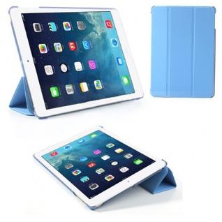 Deluxe Smartcover Schutz Case Etui Zubehör für Apple iPad Air Case Hülle blau
