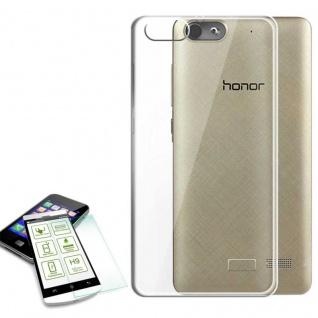 Hülle Transparent Tasche + 0, 3 H9 Panzerglas für Huawei Honor 4C / G Play Mini