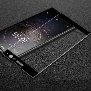 3D Premium 0, 3 mm H9 Hart Glas Schwarz Folie für Sony Xperia XA2 Schutz Hülle