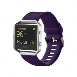 Kunststoff / Silikon Uhr Armband für Fitbit Blaze Watch Lila Zubehör 17-20 cm
