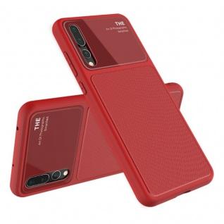 Design Cover Rot für Huawei P20 Pro TPU Silikon Schutz Tasche Hülle Case Neu