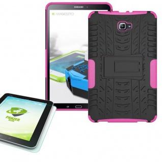 Hybrid Outdoor Tasche Pink für Samsung Galaxy Tab A 10.1 T580 + 0.4 Hartglas