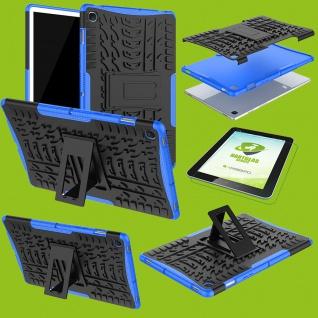 Für Samsung Galaxy Tab A 8.0 T290 T295 Hybrid Etuis Blau Hülle Tasche + H9 Glas