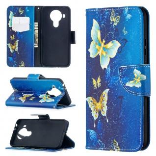Für Nokia 5.4 Kunst-Leder Handy Tasche Motiv 5 Hülle Case Etuis Cover Schutz