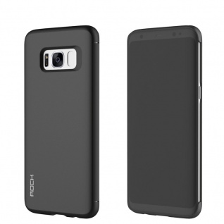 Original ROCK Shadow Smartcover Tasche Schwarz für Samsung Galaxy S8 G950 G950F