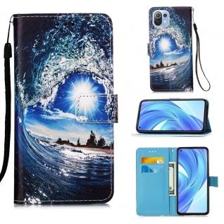 Für Xiaomi Mi 11 Lite Kunst-Leder Handy Tasche Motiv 1 Hülle Case Etuis Schutz