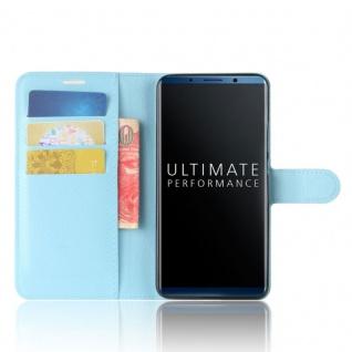 Tasche Wallet Premium Blau für Huawei Mate 10 Pro Hülle Case Cover Etui Schutz - Vorschau 5