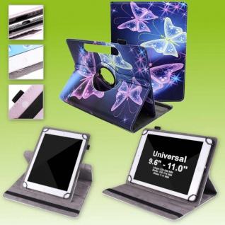 Für Huawei MediaPad M5 Lite 10.1 360 Grad Motiv 13 Tablet Tasche Kunst Leder Neu
