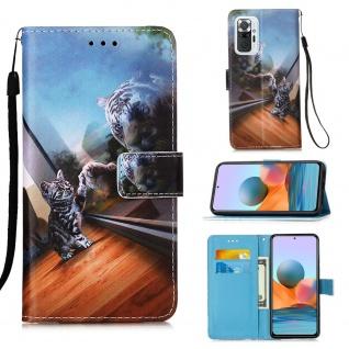 Für Xiaomi Redmi Note 10 Pro Kunst-Leder Handy Tasche Motiv 12 Hülle Case Etuis