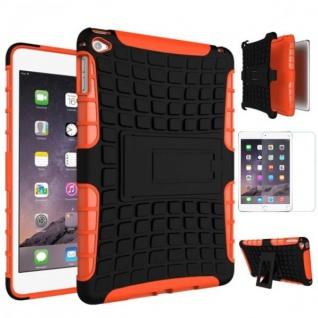 Hybrid Outdoor Schutzhülle Orange für iPad Mini 4 Tasche + 0.3 H9 Hartglas Neu