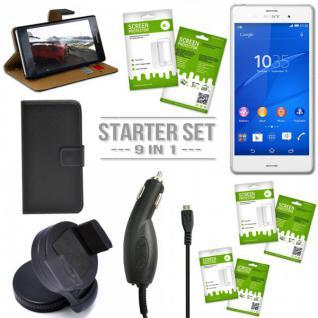 9in 1 Zubehör SET für Sony Xperia Z3 Plus + E6553 Tasche Hülle KfZ Halterung Neu