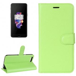 Tasche Wallet Premium Grün für ONEPlus 5 Hülle Case Cover Etui Schutz Zubehör