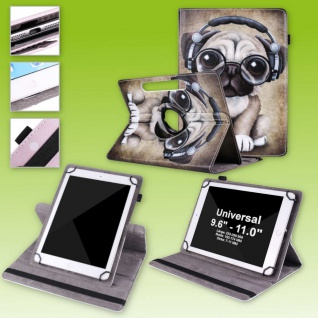 Für Lenovo Tab M10 Plus 360 Grad Rotation Motiv 5 Tablet Tasche Kunst Leder Etui