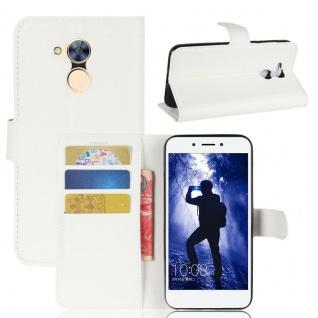 Tasche Wallet Premium Weiß für Huawei Honor 6A Hülle Case Cover Etui Neu Schutz