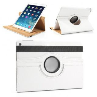 Schutzhülle Kunstleder 360 Grad Tasche Weiss für Apple iPad Air 2 Hülle Case