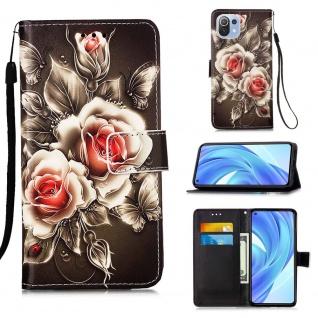 Für Xiaomi Mi 11 Lite Kunst-Leder Handy Tasche Motiv 4 Hülle Case Etuis Schutz
