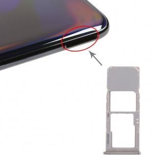 Sim Karten Halter für Samsung Galaxy A70 Silber Card Tray Micro SD Ersatzteil