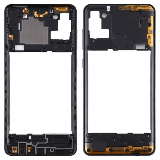 Mittelrahmen für Samsung Galaxy A21s Schwarz Middle Frame Rahmen Gehäuse Zubehör