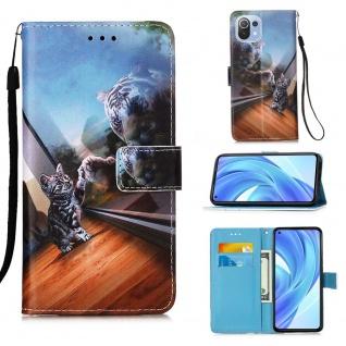 Für Xiaomi Mi 11 Lite Kunst-Leder Handy Tasche Motiv 5 Hülle Case Etuis Schutz