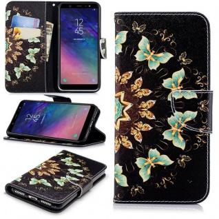 Für Samsung Galaxy A6 A600 2018 Kunstleder Tasche Book Motiv 43 Hülle Case Cover