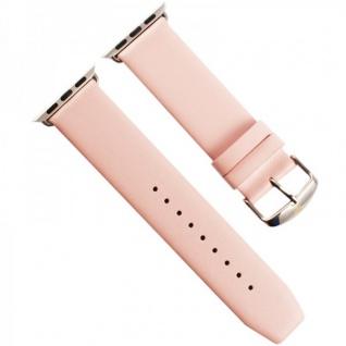 Echtleder Leder Armband Rosa für Apple Watch Lederarmband 38 mm iWatch Zubehör - Vorschau 3