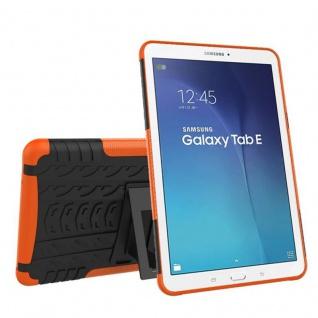 Hybrid Outdoor Schutzhülle Orange für Samsung Galaxy Tab E 9.6 SM T560 Tasche
