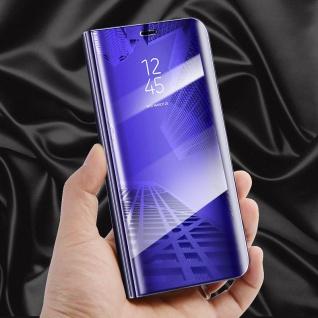 Clear View Spiegel Smart Cover Lila für Huawei P10 Lite Tasche Wake UP Hülle Neu