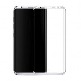 0, 3 mm H9 gebogenes Panzerglas Silber Folie für Samsung Galaxy S8 G950 G950F Neu