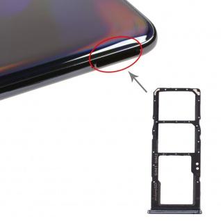 Dual Sim Karten Halter für Samsung Galaxy A70 Schwarz Card Tray Micro SD Ersatz