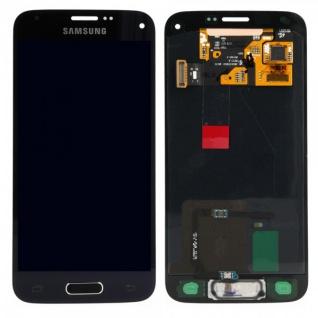 Display LCD Komplettset Touchscreen Tief Schwarz für Samsung Galaxy S5 Mini G800F