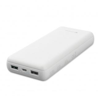 4smarts Powerbank VoltHub Go 20000 mAh Weiß Charging Elektro USB Kabel Zubehör