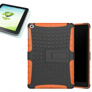 Hybrid Outdoor Hülle Orange für Apple iPad 9.7 2017 Tasche + H9 Hartglas Case 1