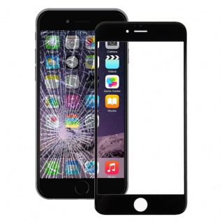 Displayglas Glas Schwarz für Apple iPhone 7 4.7 Zubehör + Werkzeug Opening Tool