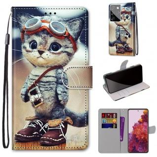 Für Samsung Galaxy S21 Ultra 5G Kunst-Leder Handy Tasche Motiv 1 Hülle Etuis Case