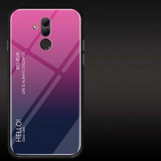 Für Huawei Mate 20 Lite Color Rainbow Effekt Glas Cover Pink Tasche Hülle Case