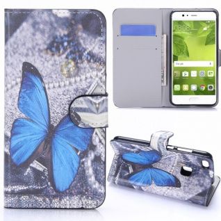 Schutzhülle Muster 26 für Huawei P10 Lite Bookcover Tasche Case Hülle Wallet Neu