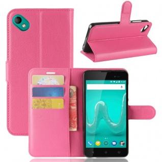 Tasche Wallet Premium Pink für Wiko Sunny 2 Plus Hülle Case Cover Etui Schutz