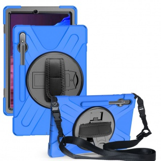 Für Samsung Galaxy Tab S7 FE / Tab S7 Plus Hybrid Outdoor Blau Tasche Hülle Etui
