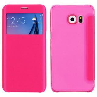 Smartcover Window Rosa für Samsung Galaxy S6 Edge Plus G928 F Tasche Hülle Case
