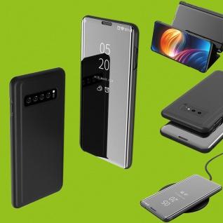 Für Samsung Galaxy S10 Lite / S10E G970F Clear View Smart Cover Schwarz Tasche