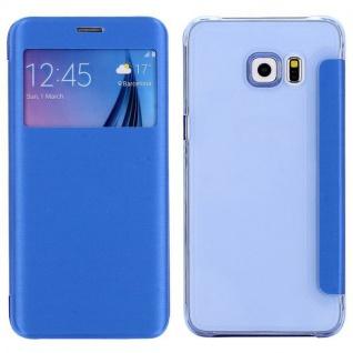 Smartcover Window Hellblau für Samsung Galaxy S6 Edge Plus G928 F Tasche Hülle